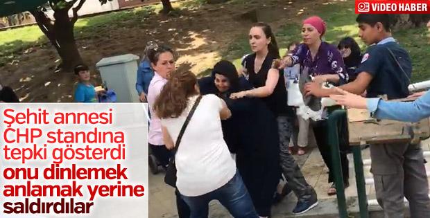 Bursa'da şehit annesine saldırı