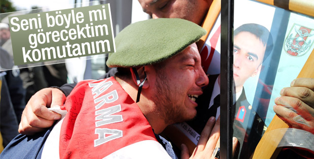 Askerin gözyaşları: Seni böyle mi görecektim komutanım