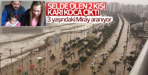 Mersin'deki sel felaketinde karı koca hayatını kaybetti