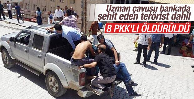 Hakkari Şemdinli'de 8 terörist öldürüldü
