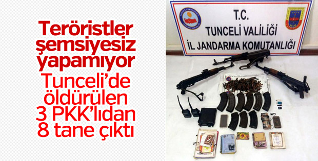 Tunceli'de 3 PKK'lı öldürüldü