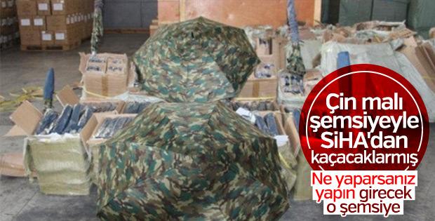 Mersin'de kamuflajlı şemsiye operasyonu