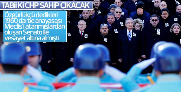 CHP'li Cumhuriyet Senatosu üyesi Hüseyin Öztürk'e veda