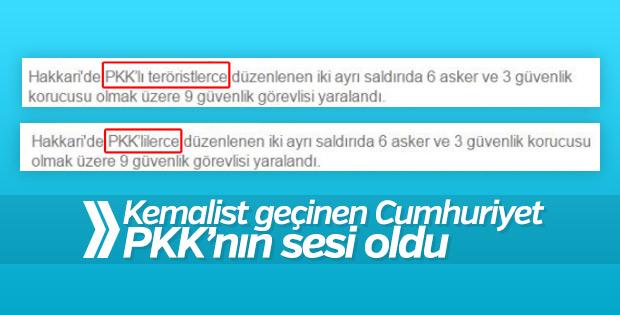 Cumhuriyet'in PKK hassasiyeti