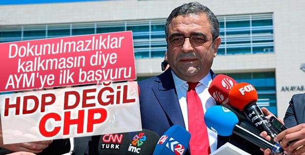 CHP'li Tanrıkulu dokunulmazlıkların iptali için AYM'ye başvurdu