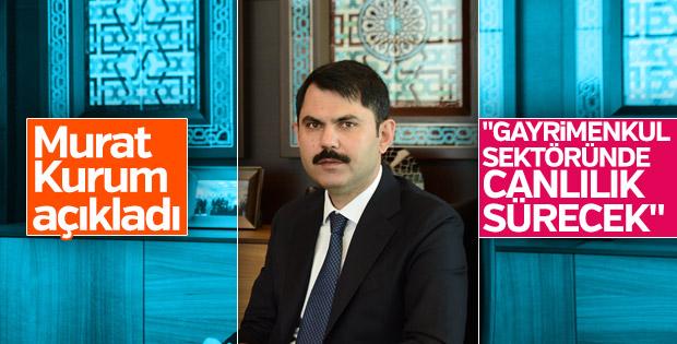 Murat Kurum: Sektörde canlılık sürecek