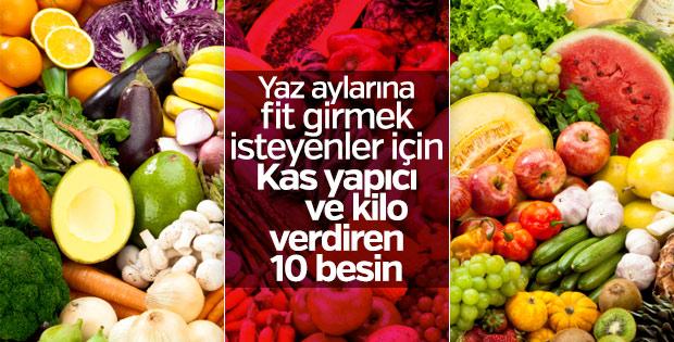 Kas yapıcı ve kilo verdiren 10 besin