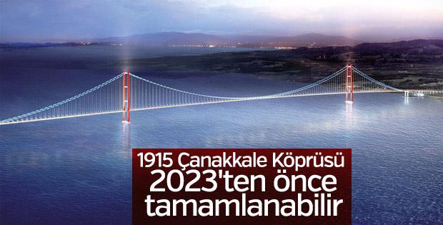 1915 Çanakkale Köprüsü 2023'ten önce tamamlanabilir