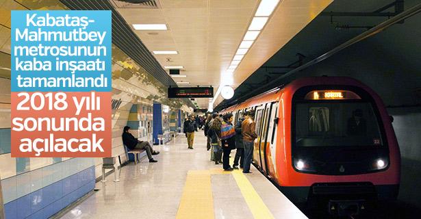 Kabataş- Mahmutbey metrosu 2018 yılı sonunda açılacak