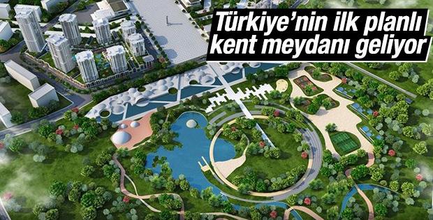 Türkiye'nin ilk planlı kent meydanı geliyor