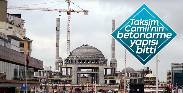Taksim Camii inşaatında gelinen nokta görüntülendi