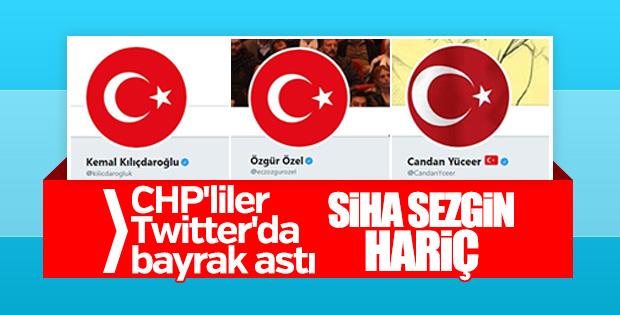 CHP'de Türk bayraklı profil fotoğrafı akımı