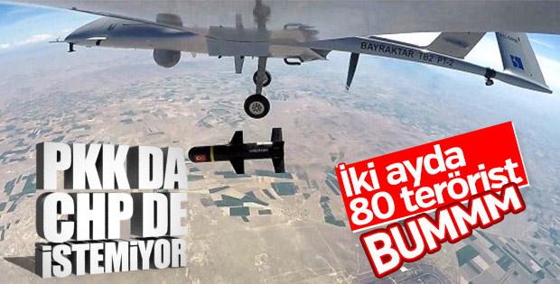 PKK'lı teröristlerin korkulu rüyası SİHA