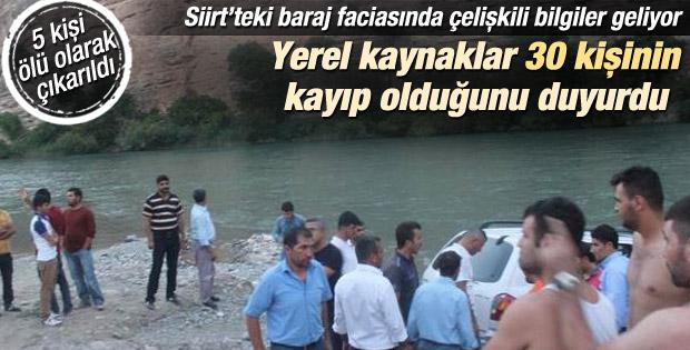 Siirt'te piknikçiler baraj suyuna kapıldı