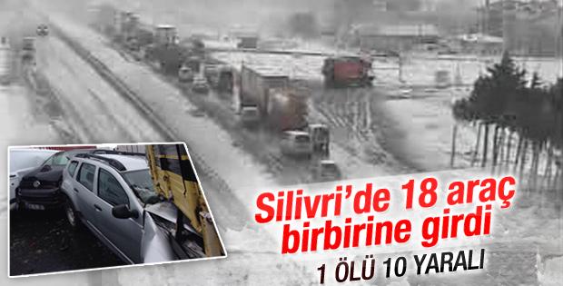 İstanbul TEM'de zincirleme kaza