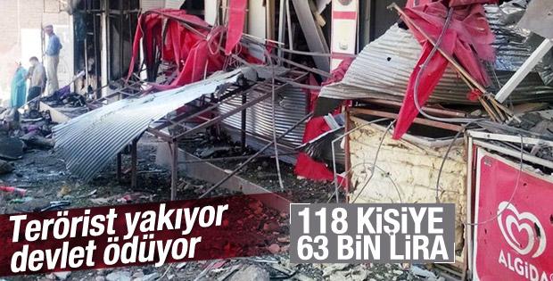 Silvan'da terörden zarar görenlere ödeme yapılacak