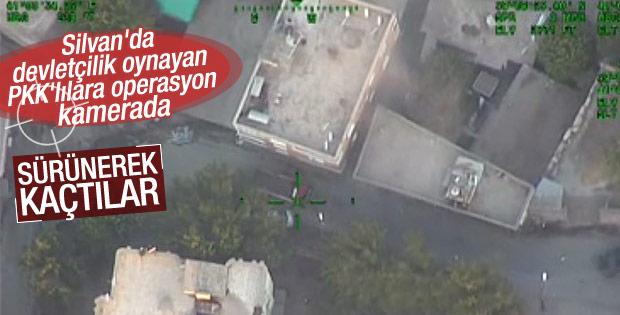Diyarbakır Silvan'daki operasyon havadan görüntülendi
