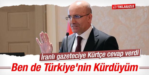 Mehmet Şimşek'ten İranlı gazeteciye Kürtçe cevap