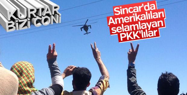 Sincar'da PKK'lıların ABD hayranlığı