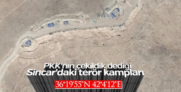 Sincar'daki PKK hedeflerinin koordinatları
