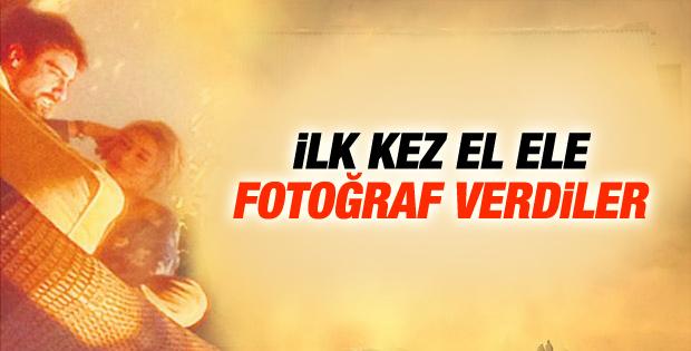 Sinem Kobal ile İbrahim Çelikkol ilk kez el ele
