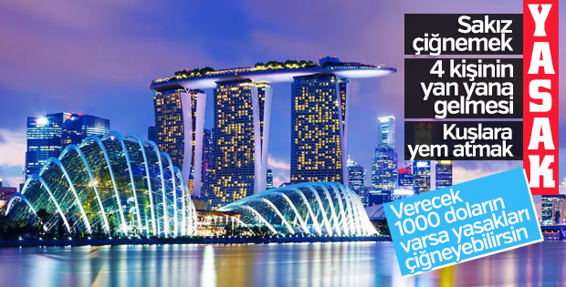 Singapur'daki enteresan yasaklar