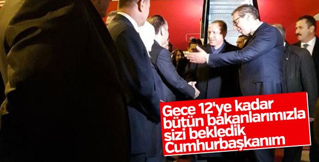 Sırbistan Cumhurbaşkanı saatlerce Erdoğan'ı bekledi