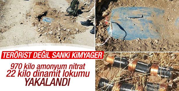 Şırnak'ta yüzlerce kiloluk patlayıcı bulundu