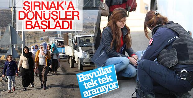 Şırnak'a dönüşler başladı