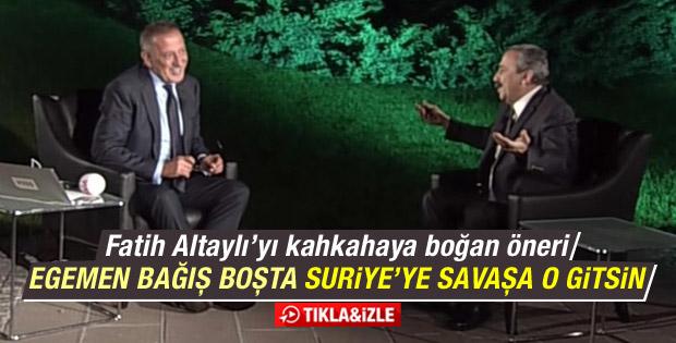Sırrı Süreyya Önder: Suriye'de Egemen Bağış savaşsın