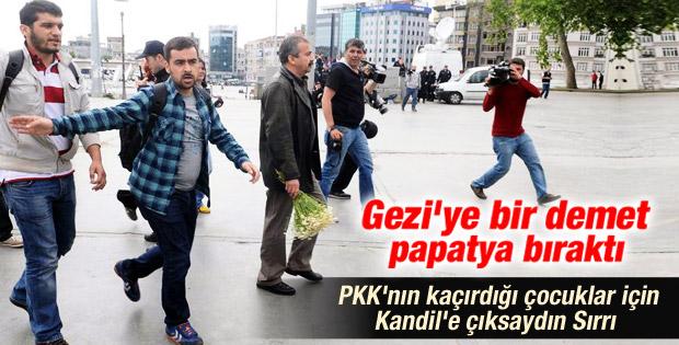 Sırrı Süreyya Gezi Parkı'na gitti