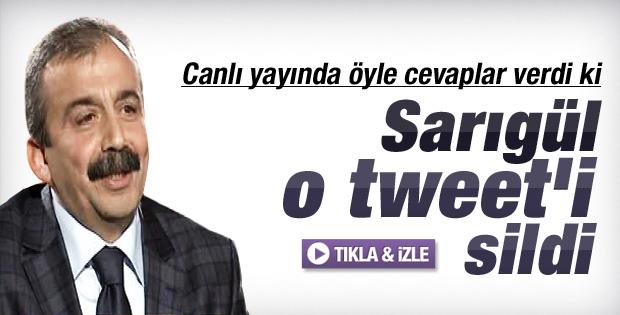 Sırrı Süreyya'dan Sarıgül'ün tweetine canlı yayında cevap - izle