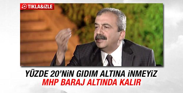 Sırrı Süreyya Önder: MHP baraj altında kalır
