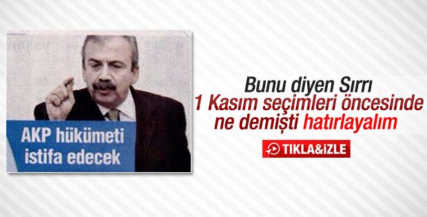 Sırrı Süreyya Önder'in tutmayan 1 Kasım öngörüsü