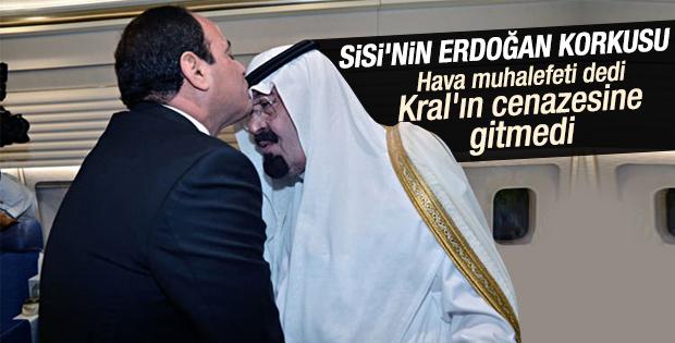 Sisi Kral Abdullah'ın cenazesine katılmadı