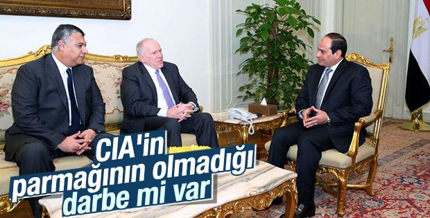 CIA Başkanı Brennan Mısır Cumhurbaşkanı Sisi ile görüştü