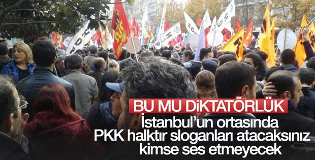 Şişli'de PKK sloganı attılar