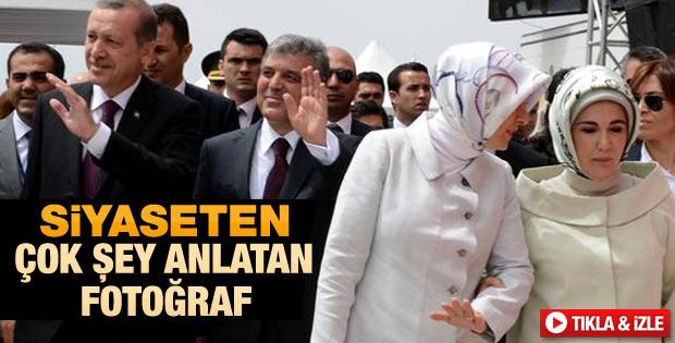 Hayrünnisa Gül ile Emine Erdoğan kol kola