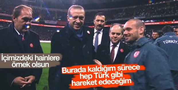 Sneijder'den birlik mesajı