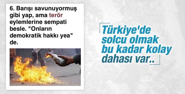 Türkiye'de solcu olmak çok kolay