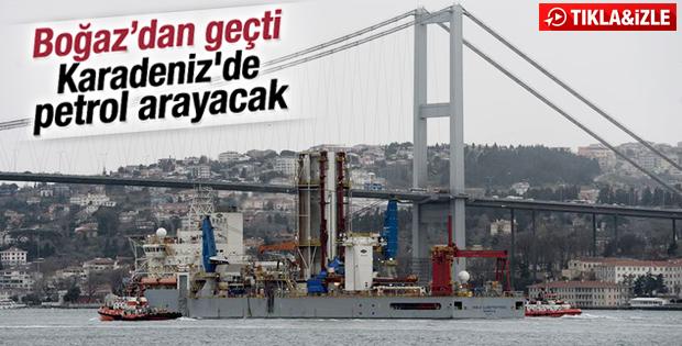 Sondaj gemisi Karadeniz'e gidiyor