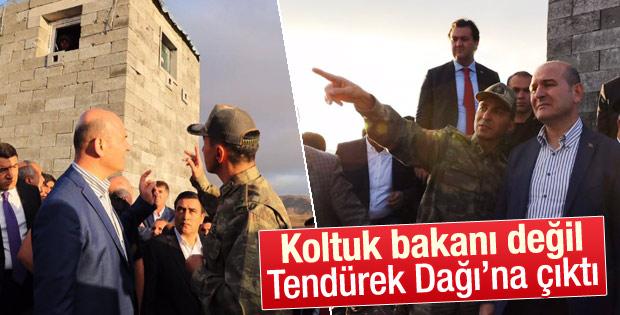 İçişleri Bakanı Soylu Tendürek Dağı'na çıktı
