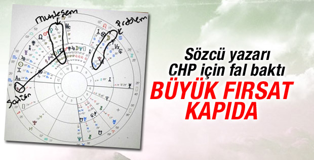 Sözcü yazarı CHP için fal baktı