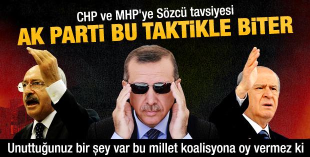 Sözcü Gazetesi'nden muhalefete AK Parti'yi bitirme planı