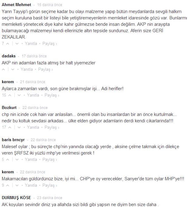 Sözcü okurları CHP'nin skandallarına isyan etti