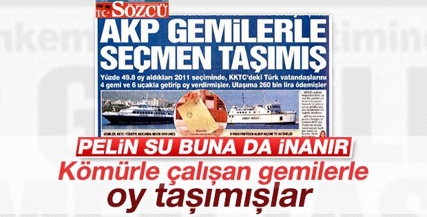 Sözcü'nün AKP gemilerle seçmen taşıdı manşeti