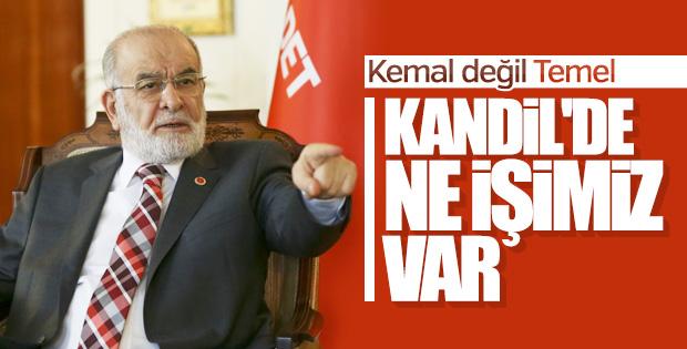 Karamollaoğlu Kandil'e girilmesini istemiyor