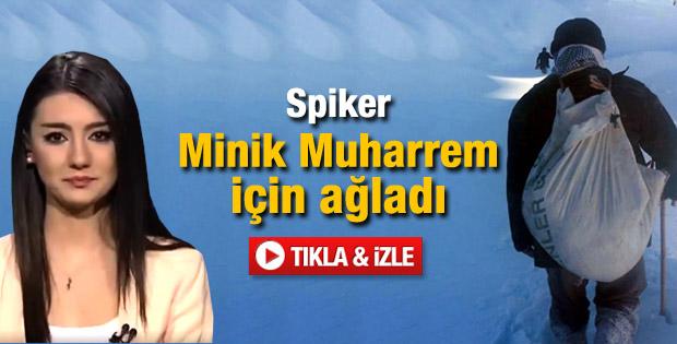 Spiker Minik Muharrem için gözyaşı döktü - Video
