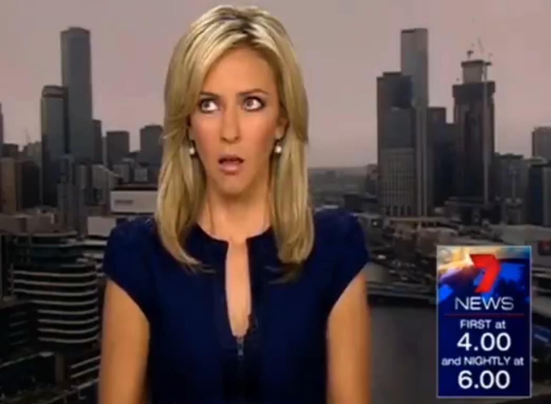 Yeni haber spikeri canlı yayında gafil avlandı