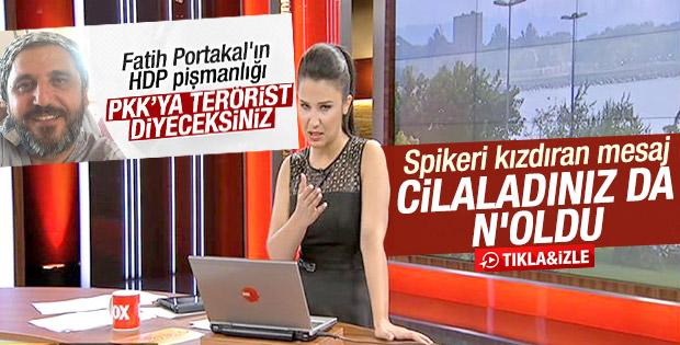 Fox TV spikeri okurun HDP mesajına kızdı